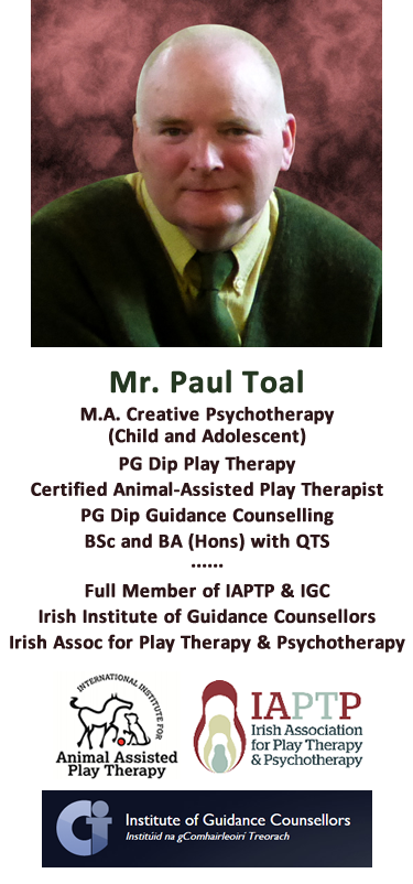 Mr. Paul Toal of ALTIQUIN - M.A. Creative Psychotherapy (Child and Adolescent) - Play Therapist - Canine-assisted Play Therapist