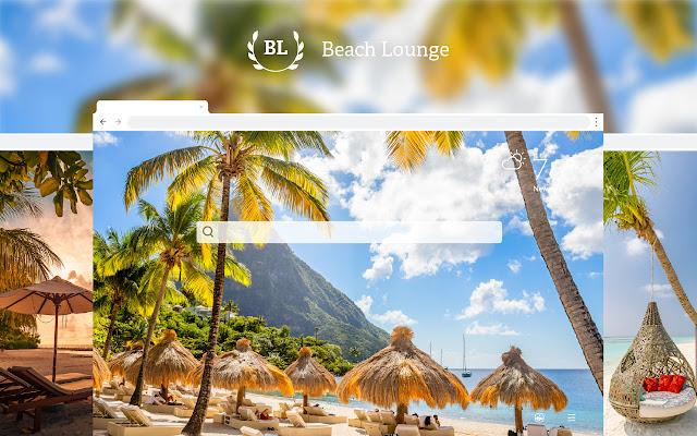 Beach Lounge HD Wallpapers New Tab