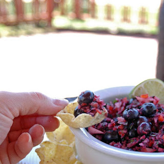 Red, White and Blueberry Salsa.