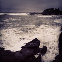 Photo: The Churning Waters at Depoe Bay on a rainy November day.