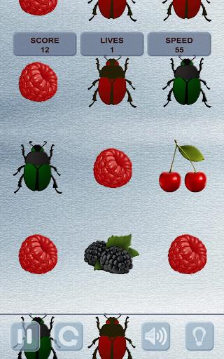 不要點擊甲蟲!收集漿果!Don't tap the bugs