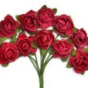 KC-Mini Paper Blooms(Cranberry)