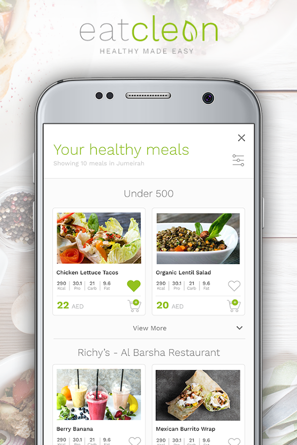 Eat Clean ME: Food Delivery- screenshot