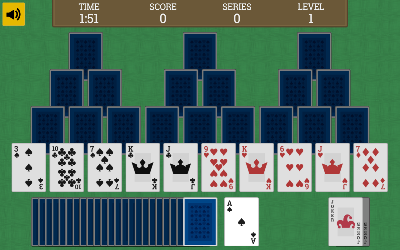 Tripeaks Solitaire [face-down]- screenshot