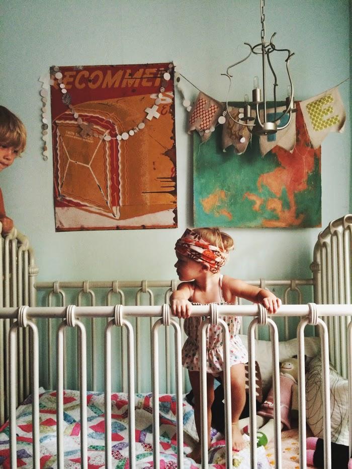 via le blog thewiegands - Chambre d'enfant de Bohèmes