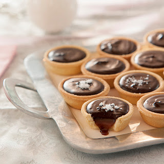 Salted Caramel Chocolate Tarts.