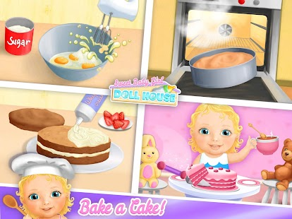 Sweet Baby Girl Doll House - Play, Care & Bed Time- screenshot thumbnail
