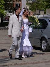 Photo: a bulgarian wedding!  very stylish.