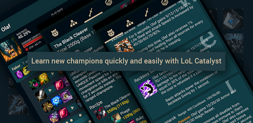 Catalyst - Builds for LoL, TFT Helper - Apps on Google Play