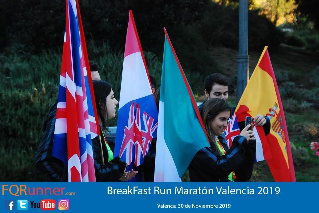 Fotos BreakFast Run Maratón de Valencia 2019