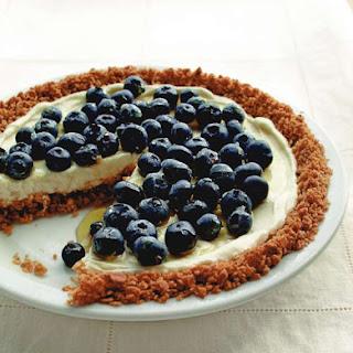 Blueberry Yogurt Pie with Granola Crust