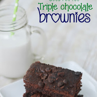 {Good for you} Triple Chocolate Brownies