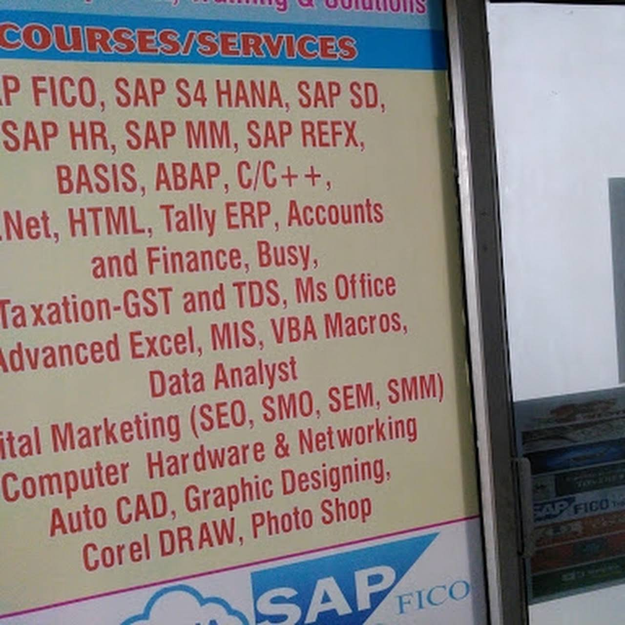 B R Infotech & Solutions, SAP Training in Noida, Tally