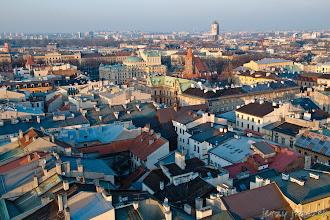 Photo: Nad dachami Krakowa. Widoczek z Hejnalicy
