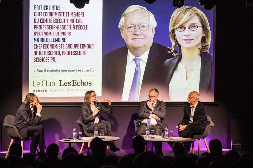 Club Les Echos Débats avec Patrick Artus et Mathilde Lemoine