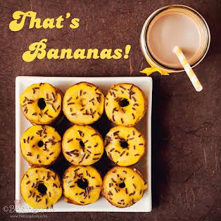 Baby Banana Coconut Donuts.