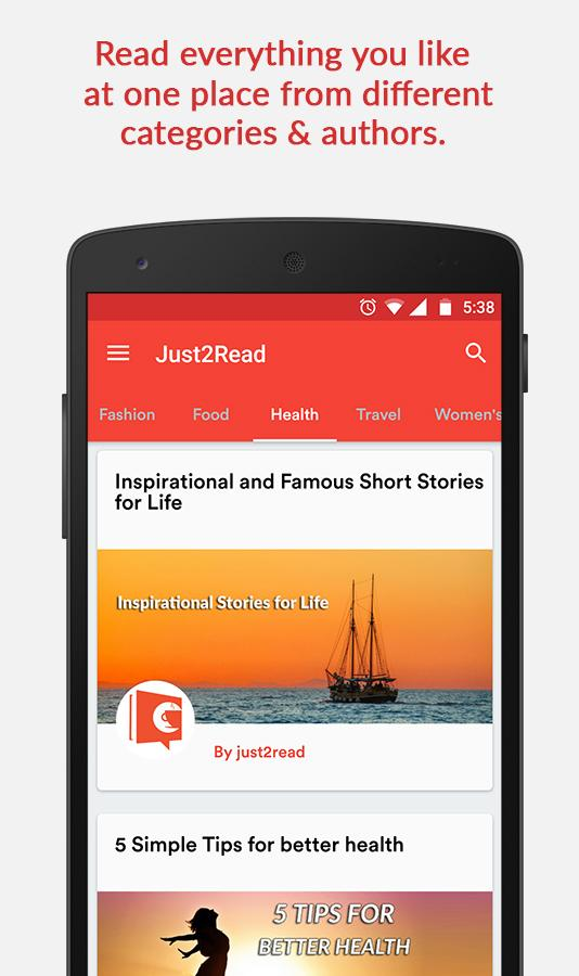 Just2Read: Your Story Magazine- screenshot