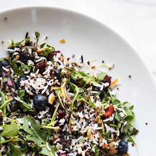 Rice and Quinoa Salad with Fresh Berries.