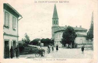 Photo: 82 Orgueil - Centre du village - Carte des années 20 - Carte avec cachet poste aux armées du 06 juillet 1940 envoyée à Saint-Quirin (Moselle)