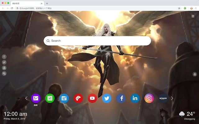 Slash Angemon Popular New Tab Page HD Theme
