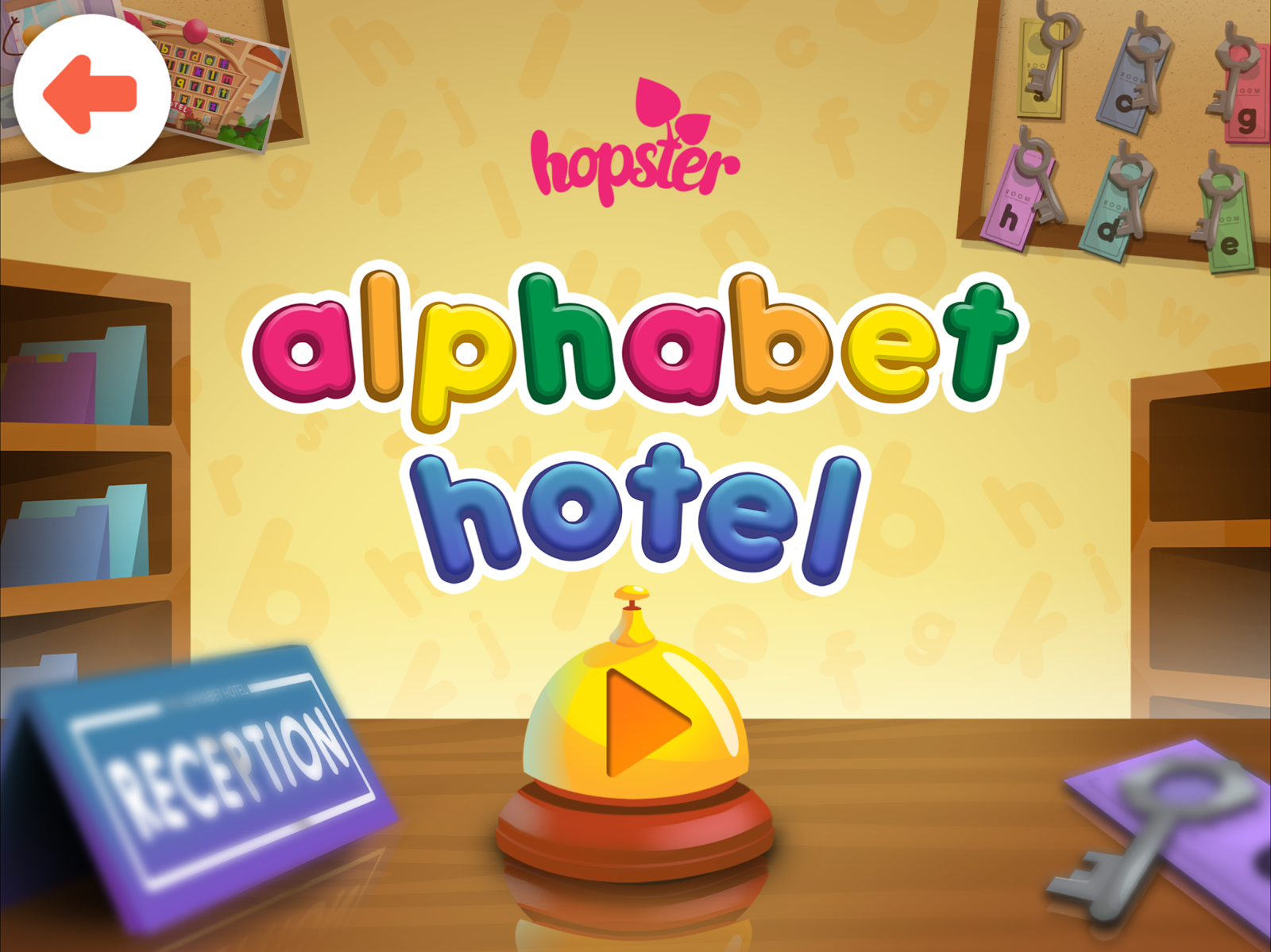 Alphabet Hotel Literacy game