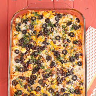Enchilada Breakfast Casserole.