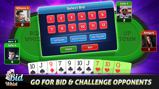 Bid Whist Free u2013 Classic Whist 2 Player Card Game screenshots 10