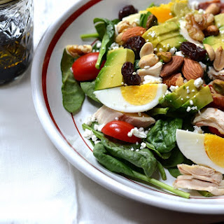 Spinach Cobb Salad with Trail Mix