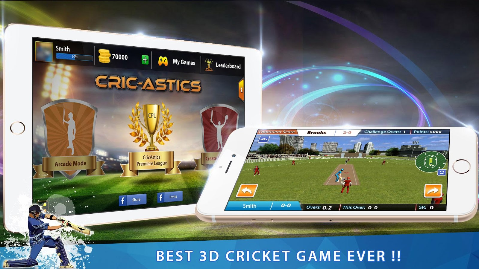 3d app games cricastics 3d multiplayer cricket android apps on 10010