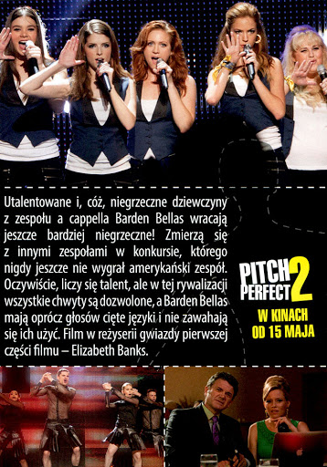 Tył ulotki filmu 'Pitch Perfect 2'
