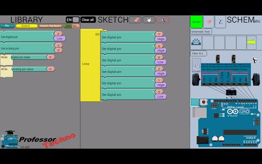 Proftechno arduino simulator app for android