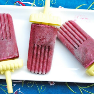 Blueberry Champagne Popsicles.