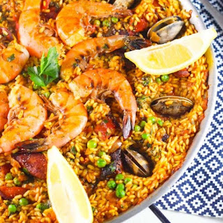 Seafood Paella with Saffron Aioli