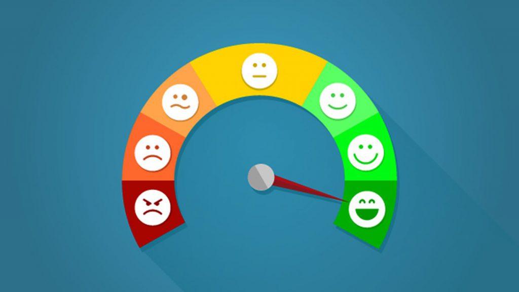 Medidor de satisfação-atendimento ao cliente