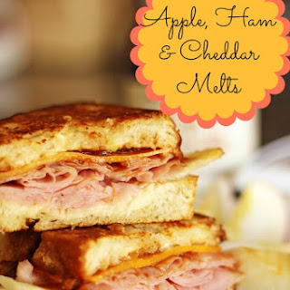 Apple, Ham, & Cheddar Melts