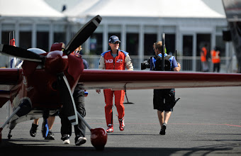 Photo: German Pilot Matthias Doldererheads to the star grid for a test flight during the training sessions on August 18th 2009 at the Red bull Air Race Airport. The 2009 Red Bull Air Race World Championship in Budapest, Hungary .(Chris Raphael/ Red Bull Air Race via AP Images). FOR EDITORIAL USE ONLY