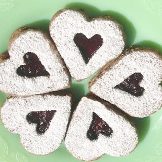 Almond Linzer Heart Cookies