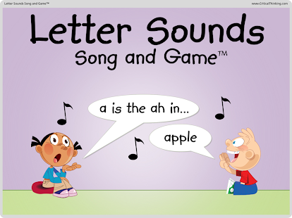 Letter Sounds Song and Game™- screenshot thumbnail