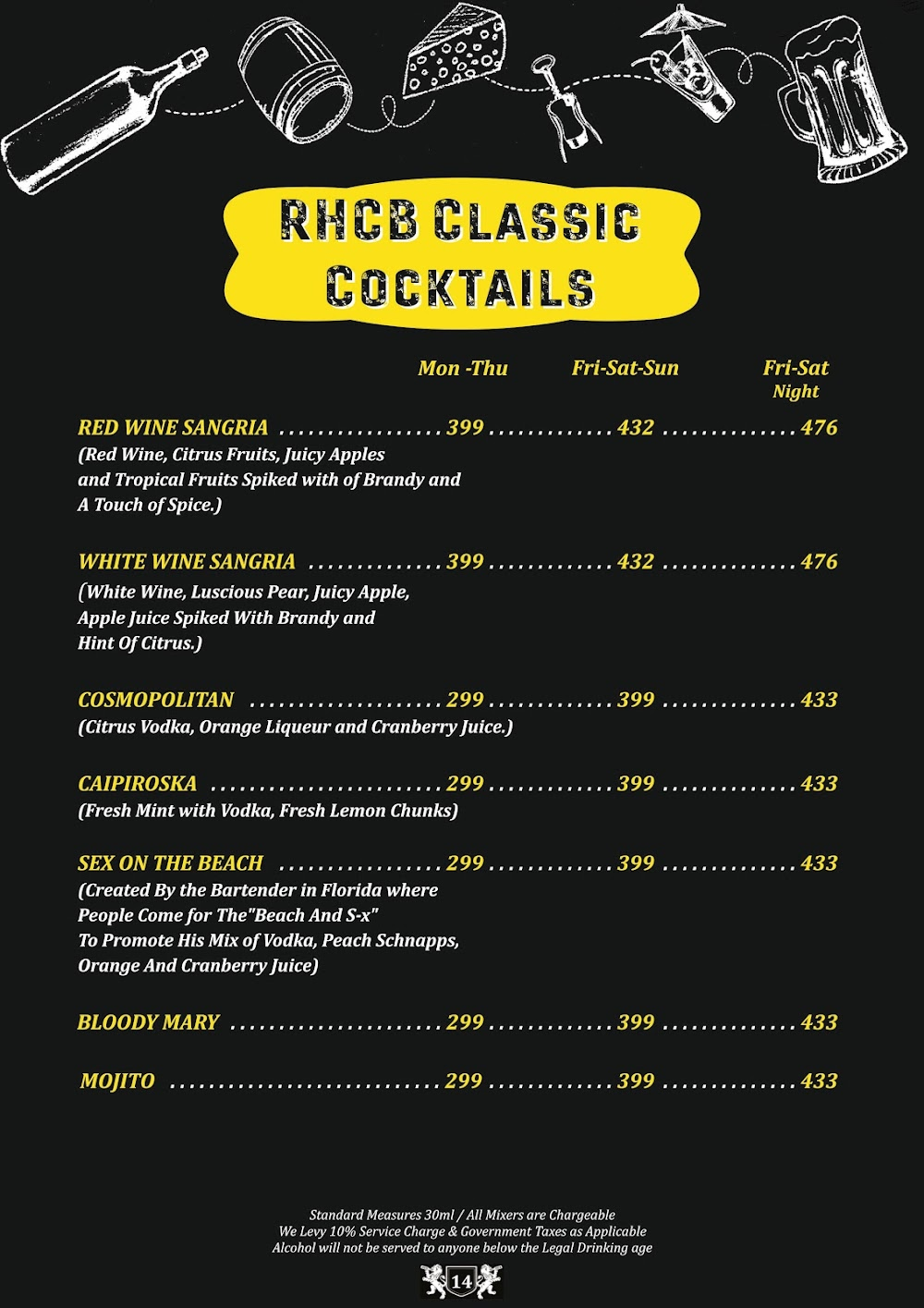 Road House Cafe Bar menu 13