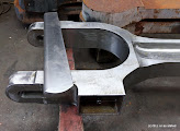 Photo: The split bearing big end of the connecting rod.