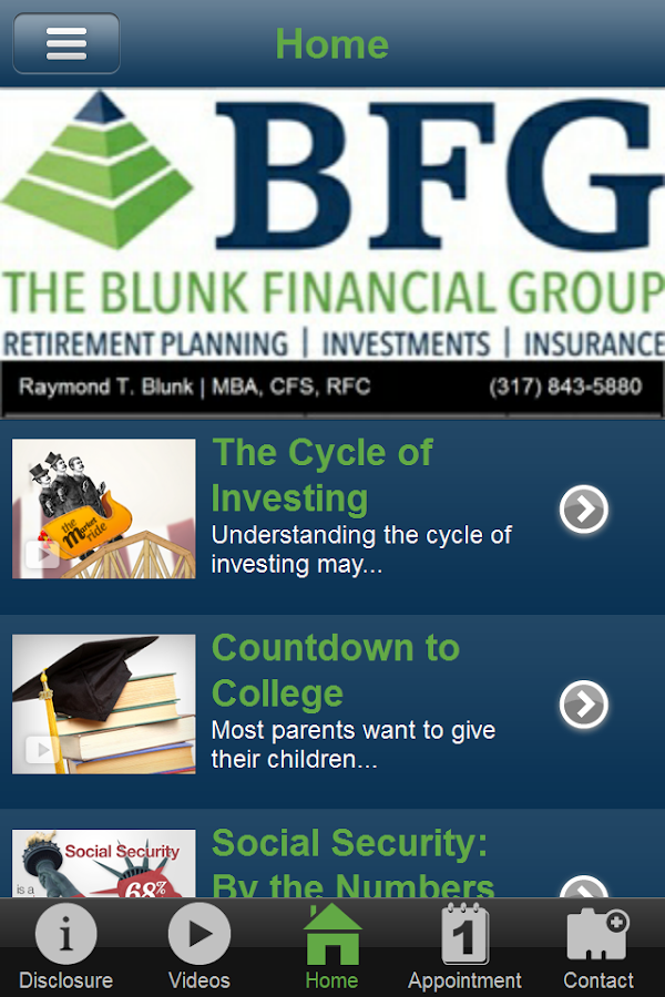 Blunk Financial Group- screenshot