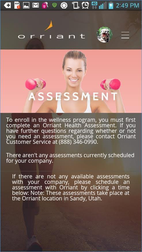 Orriant Wellness- screenshot