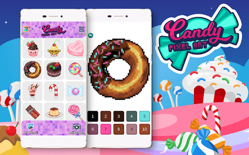 Candy Pixel Art Candy Sandbox Coloring Apps On Google