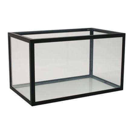 Akvarium 222 liter (svart aluminium)