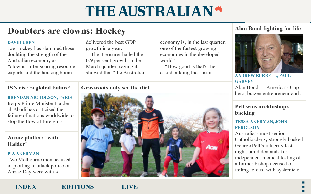 The Australian- screenshot