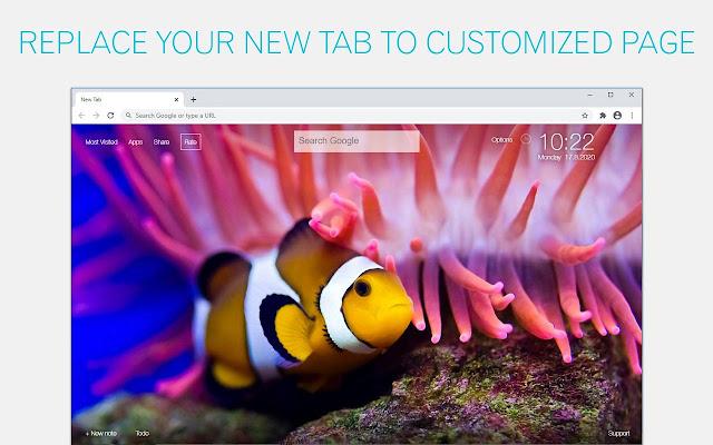 Clownfish Backgrounds New Tab - freeaddon.com