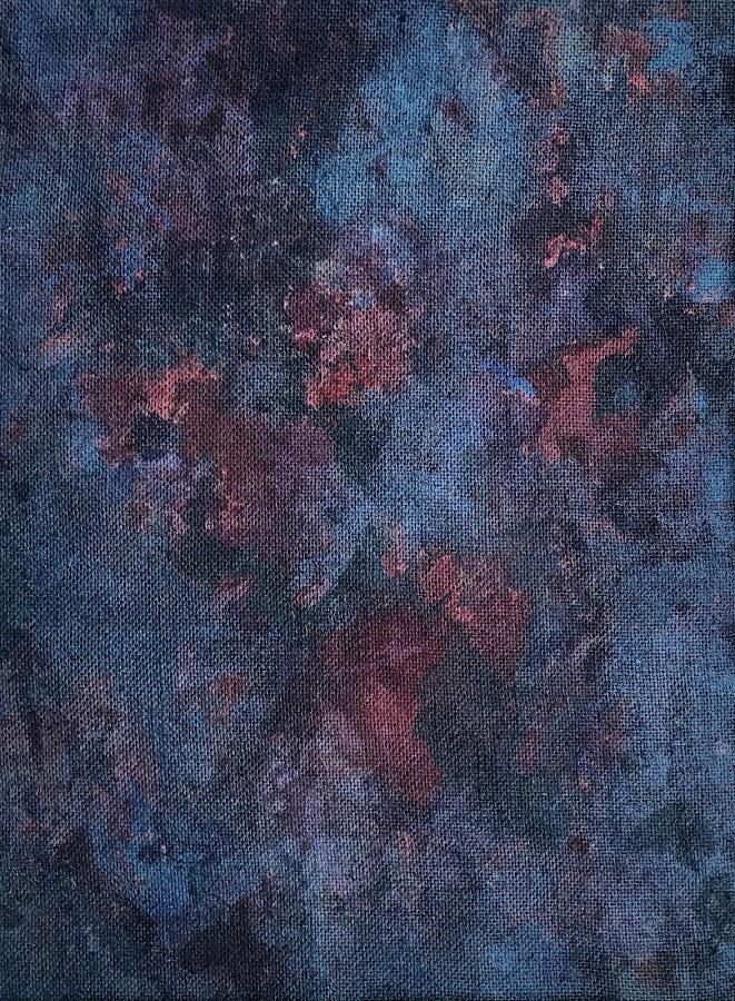 <p> Twilight<br /> 2019<br /> acrylic on burlap<br /> 24x18in 61x46cm</p>