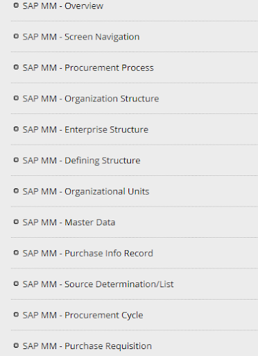 Learn SAP MM (Material Management) App Report on Mobile