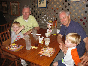 Photo: Day 3 - Eating our second of three dinners at Cracker Barrel to keep the kids going strong through the trip
