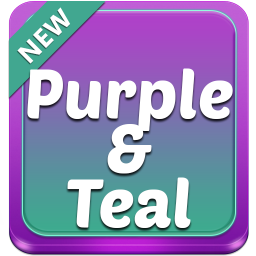 Purple and Teal Theme app (apk) free download for Android/PC/Windows